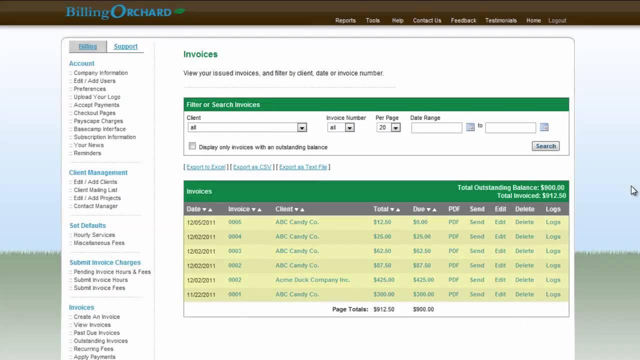 Legacy :: Export Data