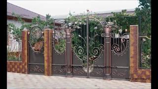 Кованые ворота и калитки ; слайдшоу