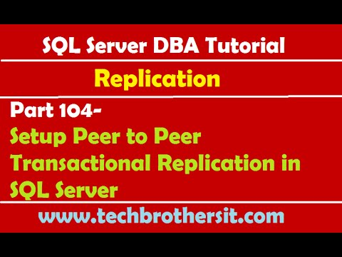 SQL Server DBA Tutorial 104-Setup Peer to Peer Transactional Replication in SQL Server