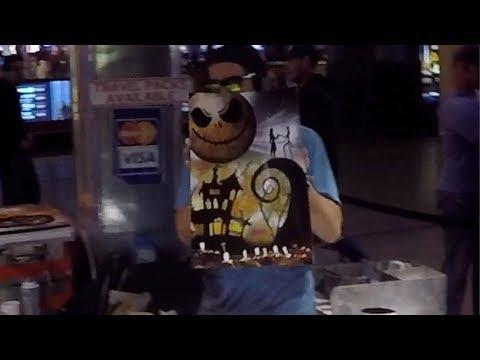Crones Vlog Spray Paint art on Fremont street in Las Vegas Nevada