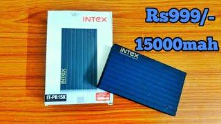 INTEX IT-PB15K POWER BANK 15000 mAh UNBOXING amp REVIEW UNDER 1000 FAST CHARGE FLIPKART SALE