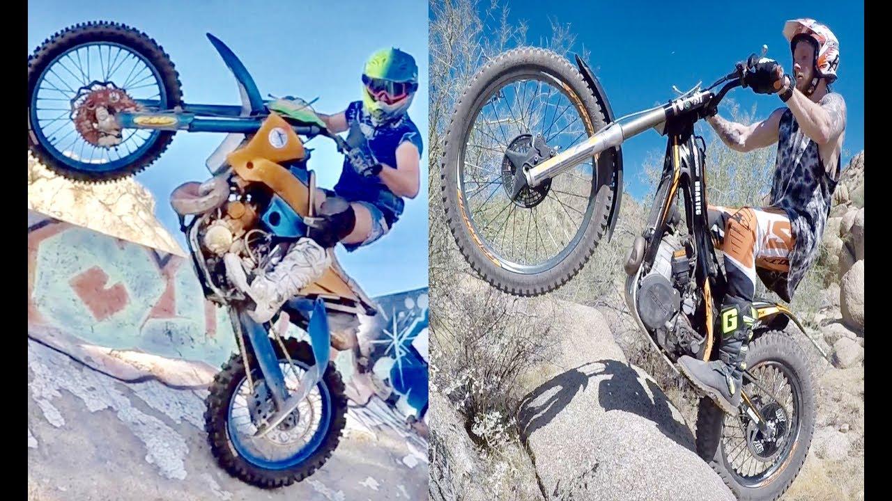 Trials Bike Vs Dirtbike Challenge Who Will Win Youtube