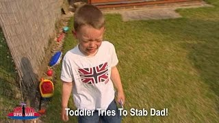 Toddler Tries To Stab Dad! | Supernanny