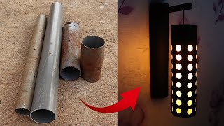 Creative Wall Lamp Ideas from PVC pipes - Easy Home Made Lamp - DIY Home Decor