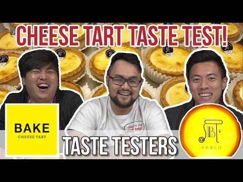 CHEESE TART TASTE TEST!   Taste Testers   Ep 16