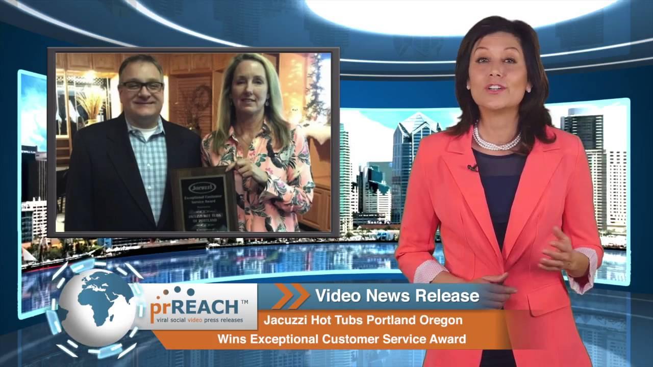 Jacuzzi Hot Tubs Portland, OR Wins Customer Service Award - YouTube
