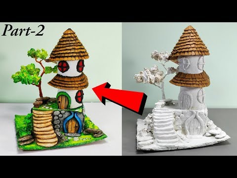 DIY fairy house out of waste materials - part 2 | How to make fairy house | Fairy house tutorial