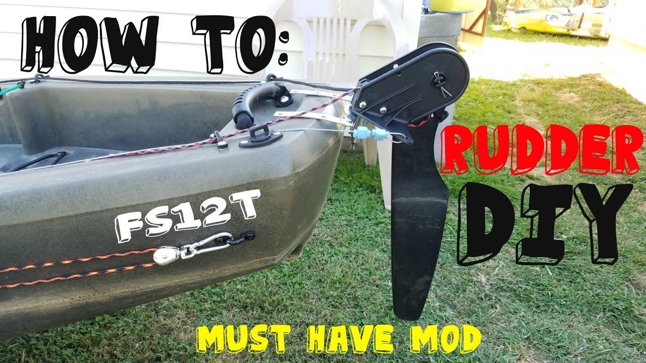 Ascend Fs12t Rudder Mod | DIY Kayak Rudder