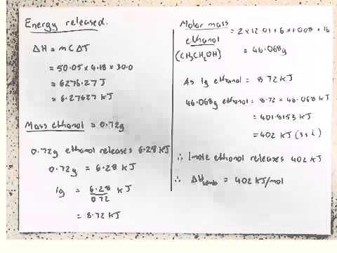 HSC Chem Prac - Molar Heat of Combustion of Ethanol