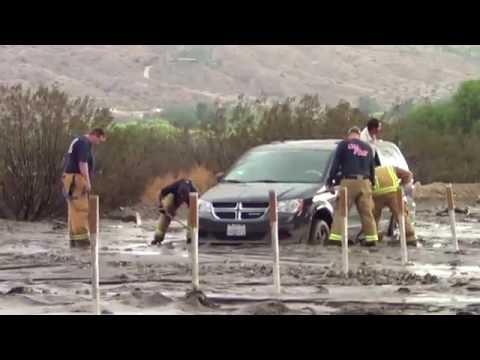 Flash Flood - Morongo Valley, CA - 8/25/2013
