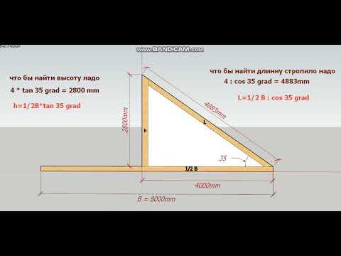 Как вычислить длину крыши
