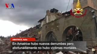Terremotos provocaron nuevos derrumbes en Italia