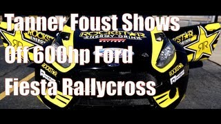 Tanner Foust Flogs 600hp Ford Fiesta Rallycross Car!