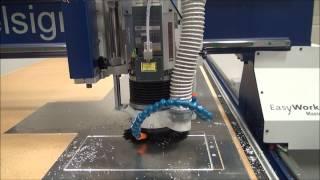 elsign CNC Fräsmaschine Aluminium 3mm fräsen 45° zum abkanten