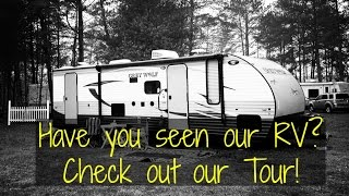 RV Tour 2016 Forest River Grey Wolf 26DBH (26 ft Bunkhouse) Travel Trailer - Full Time RVing Family