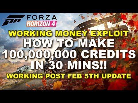 How to make 100,000,000 credits in 30 mins on Forza Horizon 4 - Working Money Exploit thumbnail
