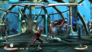 Injustice - Flash D2 Running Man Stance Cancel BnB Combo