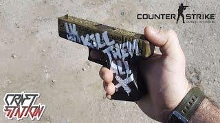 как сделать пистолет Glock 18 из дерево