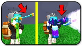 Freezing And Blowing Up Trees With The Freeze Ray And Exploding FlameThrower Roblox Lumber Simulator
