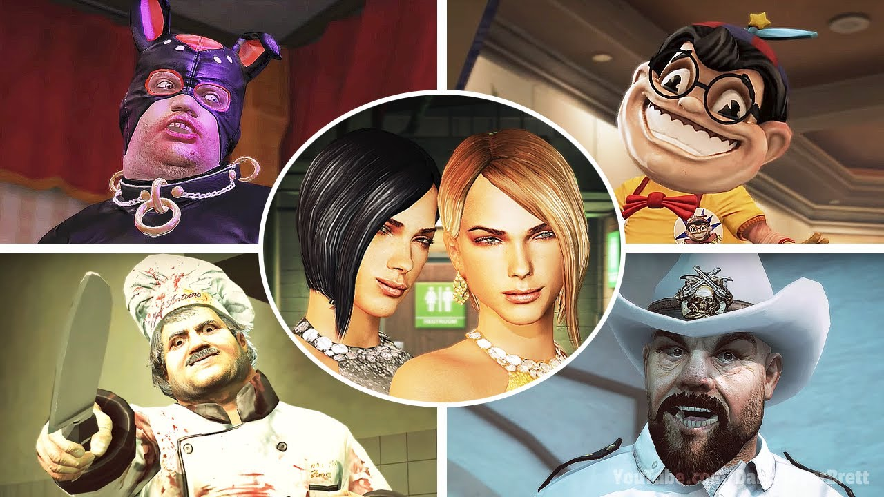 All Boss Fights All Psychopaths Dead Rising 2 With Cutscenes