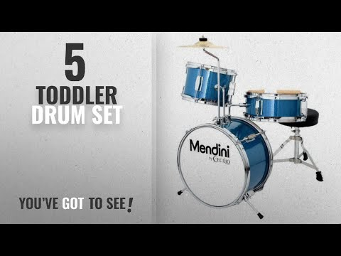 Top10 Toddler Drum Set [2018]: Mendini by Cecilio 13 Inch 3-Piece Kids / Junior Drum Set with
