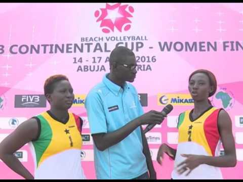 GHANA LADIES Mathar and Patricia speaking after participating in the CAVB continental cup finals