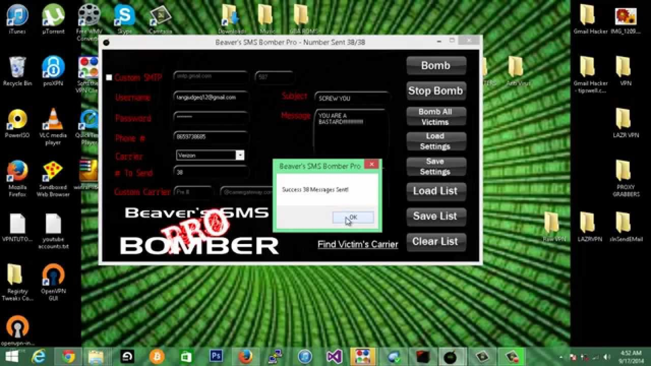 sms bomber free download software for pc