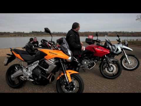 2010 Kawasaki Versys v BMW F650GS v Suzuki V-Strom - YouTube