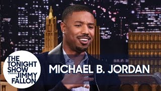 Michael B. Jordan on Push-Ups with Lupita Nyong'o and Not Saying