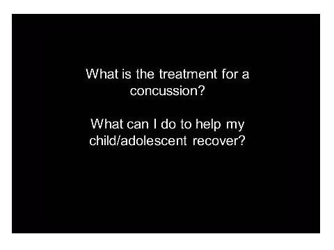 Concussions: What is the treatment for a concussion? | Children's National