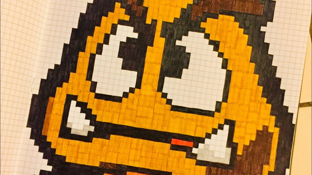 Tutorial Perler Beads Pixel Art Perle Hama Mario Goomba Youtube