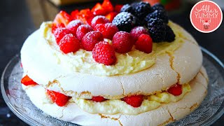 "How To Make Pavlova - Pavlova Recipe - Торт ""Павлова""с ягодами"