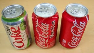 3 Coca Cola Coke Flavors: Diet Lime, Vanilla And Original