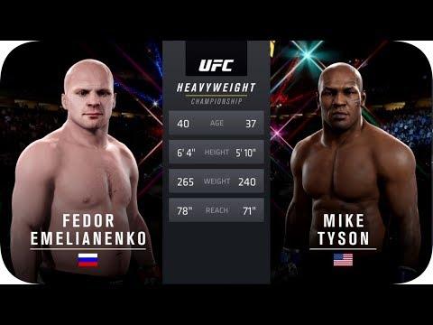 UFC 2 БОЙ Федор Емельяненко Vs Майка Тайсона (com.vs Com.)