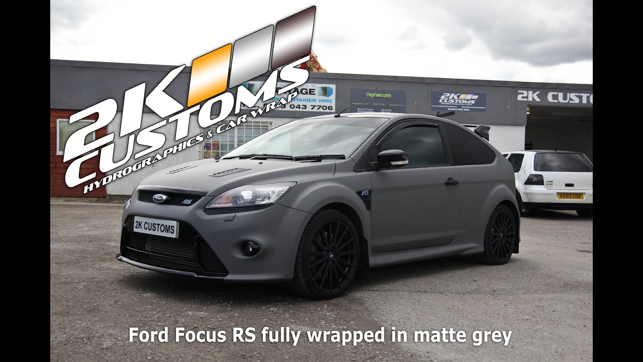 Ford Focus Rs Fully Wrapped In Matte Grey Colour Youtube