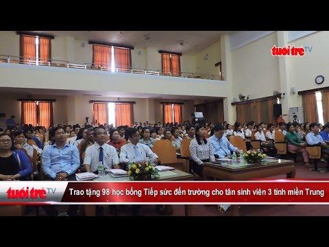 Trao tặng 98 học bổng tiếp sức đến trường 3 tỉnh miền Trung | Truyền Hình