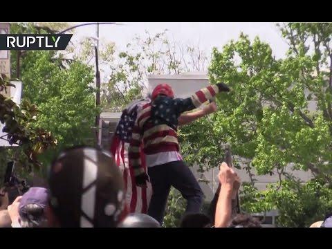 Multiple injuries, 21 arrests as pro & anti-Trump protesters clash in Berkeley, California
