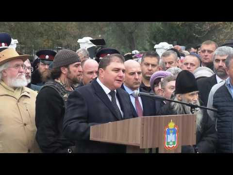 Вадим Потомский на открытии памятника Ивану Грозному