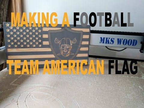 Making A Sports Team American Wood Flag