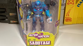 Alter Nation Sabotage Action Figure Review !!!