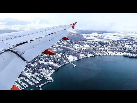 easyJet Airbus A320 WONDERFUL WINTER MORNING LANDING at Geneva Airport (GVA)