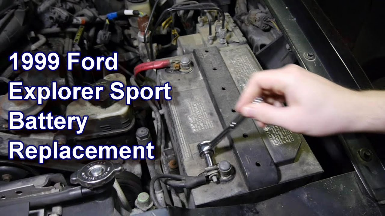 hight resolution of replacing battery 99 ford explorer sport