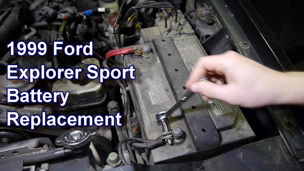 medium resolution of replacing battery 99 ford explorer sport