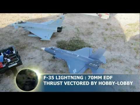 F 35 Lightning Ii Thunderbirds 35 Lightning 70mm EDF Thrust Vectored Jet - By Hobby-Lobby -- Fun ...