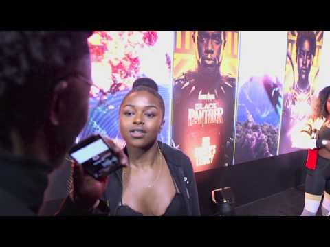 Interviews at the Black Panther European Premiere