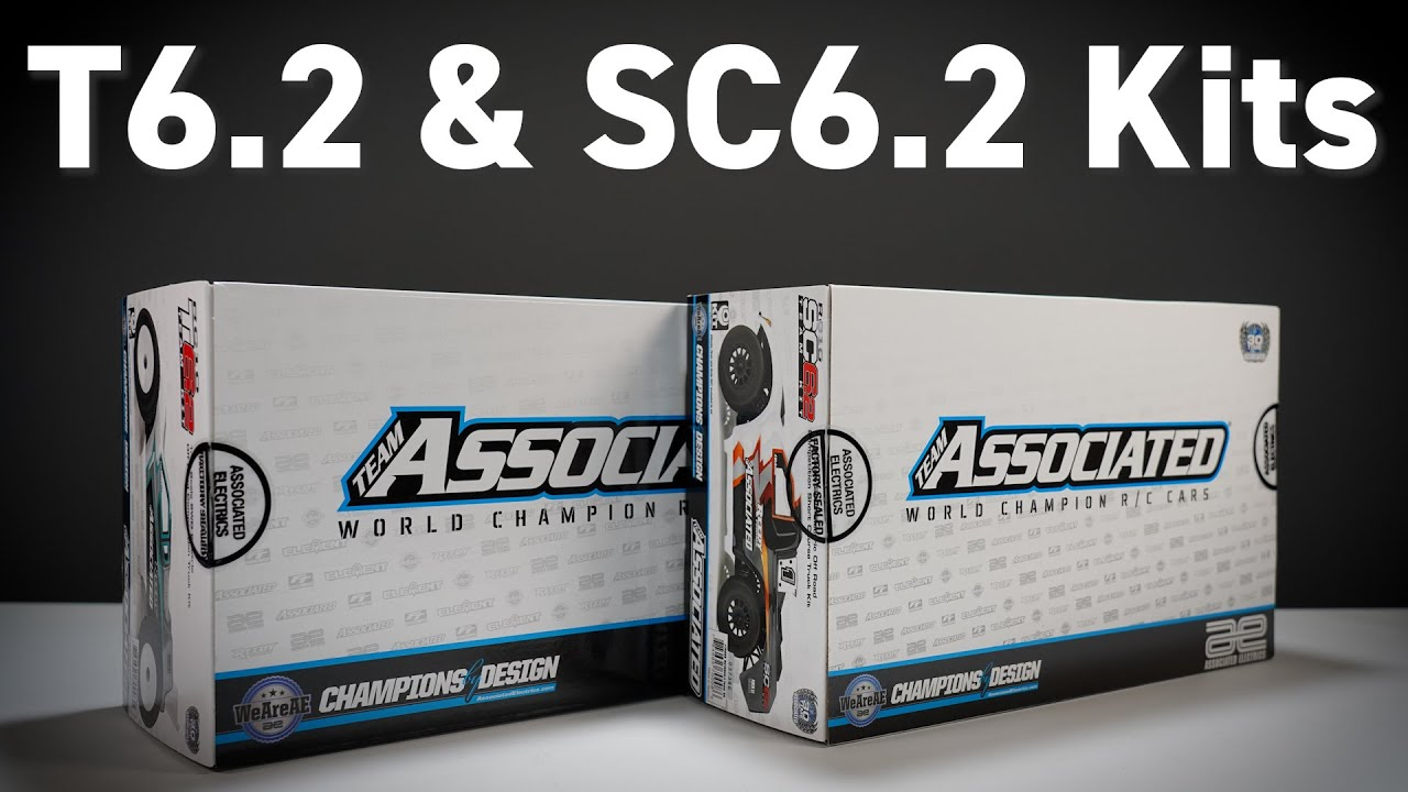 Comparing T6.2 & SC6.2 Team Associated R/C Racing Kits