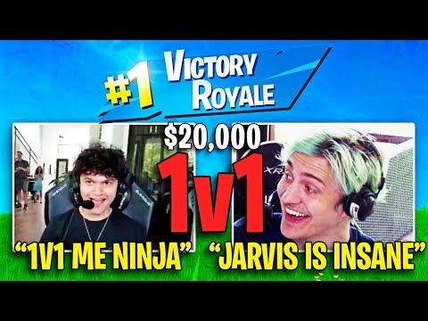 I Played Fortnite Vs Ninja for $20,000 (FaZe Jarvis Vs Ninja)