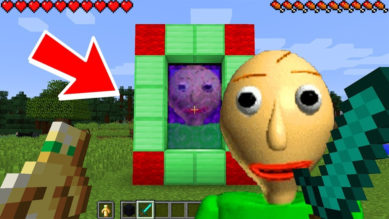 How To Make A Portal To The Scary Baldi Dimension Minecraft Baldis Basic Education Learning