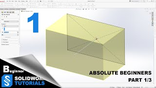 SolidWorks Tutorials/ Learning SolidWorks for beginners Part (1/3) / SolidWorks