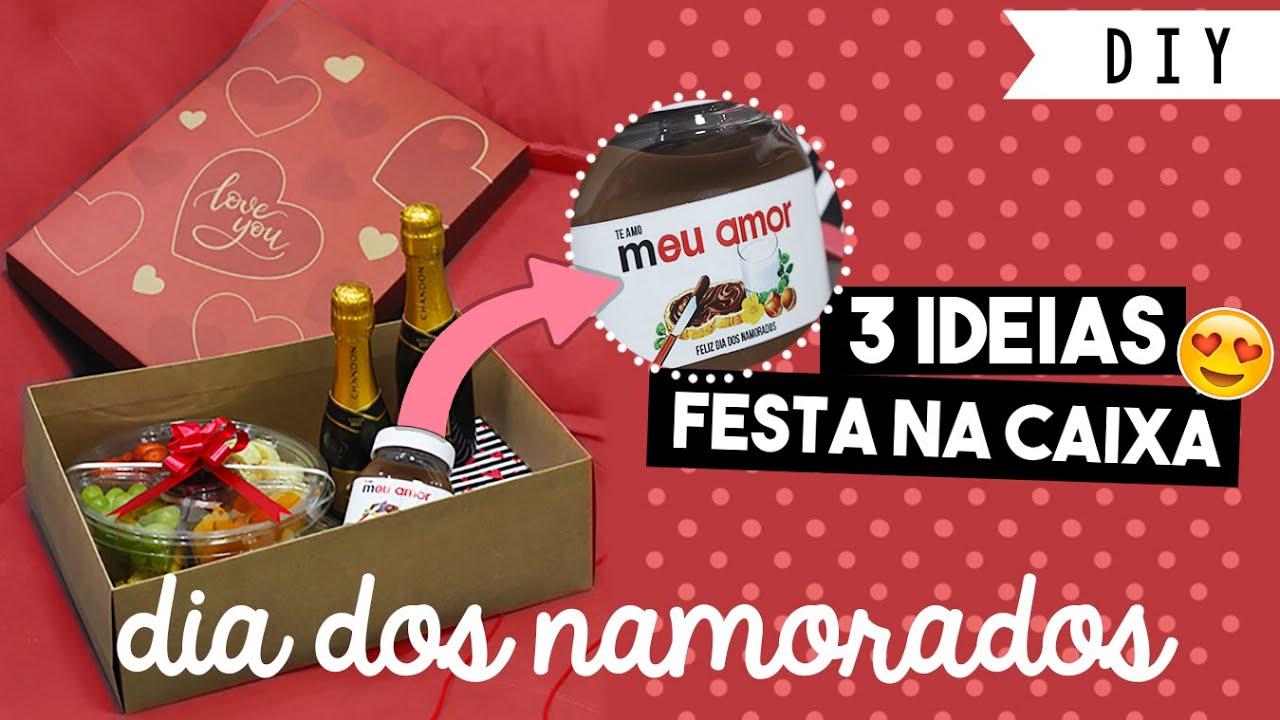 3 IDEIAS DE FESTA NA CAIXA 😍 SURPRESA pro NAMORADO 😍